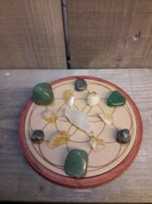 Wood Crystal Grid Prosperity - voorspoed