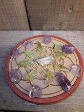 Wood Crystal Grid Healing - genezing